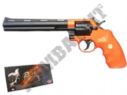 UA941 Spring Powered Revolver Airsoft BB Gun Black and Orange